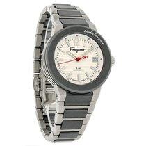 Salvatore Ferragamo F80 Mens Titanium Automatic Watch F54MBA78...