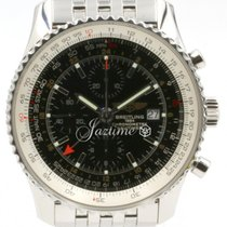 Breitling Navitimer World GMT A24322 Men's 46mm Black...