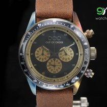 Out Of Order Chrono Brown Vintage Leather Italian Watch...