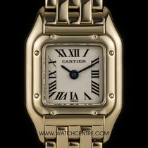 Cartier 18k Yellow Gold Silver Dial Mini Panthere Ladies B&P