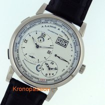 A. Lange & Söhne Lange 1 Time Zone Date 18k White Gold...