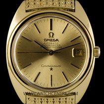 Omega 18k Yellow Gold Champagne Dial Vintage Constellation Gents