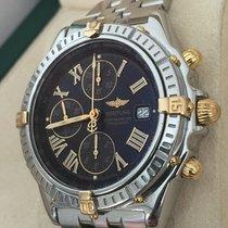 Breitling Crosswind Gold Steel Pilotband Black Roman Dial 43 mm