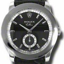 Rolex Cellini Cellinium 5241-6 Black Index Platinum Black...