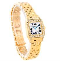 Cartier Santos Demoiselle 18k Yellow Gold Diamond Ladies Watch...