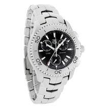 TAG Heuer Link Mens Black Dial Swiss Quartz Chronograph Watch...