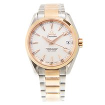 Omega Seamaster 18k Rose Gold And Steel Silvery White Automati...