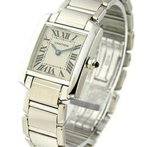 Cartier W50012S3 Tank Francaise - SMALL SIZE - White Gold on...