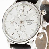 Jacques Lemans Retro Classic Chronograph Stahl an Lederband...