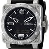 Bell &amp; Ross Type Aviation Black Dial Steel Case Men...