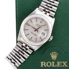Rolex Mens 16234 Datejust - Silver Dial w/ Roman Tracks