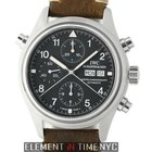 IWC Pilot Collection Pilot Doppel Chronograph Stainless Steel...