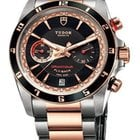 Tudor Grantour Black Dial Stainless Steel and Pink Gold...