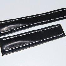 Breitling Kalbslederband für Faltschließe Schwarz  24-20 mm