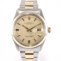 "Rolex Datejust Vintage 1600 ""smooth bezel"" ""tapiss..."