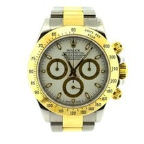 Rolex Daytona white dial steel and gold