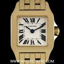 Cartier 18k Yellow Gold Silver Roman Dial Demoiselle Ladies...