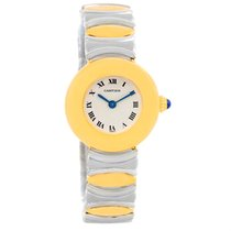 Cartier Casque Ladies Stainless Steel 18k Yellow Gold Watch