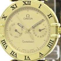 Omega Plished Omega Constellation Day Date 18k Gold Quartz...
