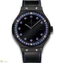 Hublot Big Bang Classic Fusion Ceramic 36 Blue Sapphires 38MM...