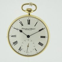 IWC solid 18K Yellow Gold Pocket Watch Cal. 952 from 1977 (2370)