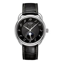 Hermès Arceau Grande Lune 43mm Steel Mens Automatic Watch Ref...