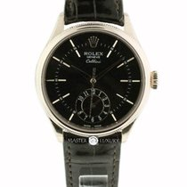 Rolex 50525 Cellini Dual Time Everose Gold Black Dial
