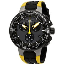 Tissot Black Dial Men's Chronograph Silicone Watch