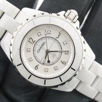 Chanel 12 Ladies Quartz 33mm Ceramic Diamond Mother of Pearl