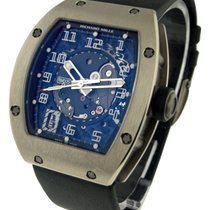 Richard Mille RM005W RM 005 - White Gold on Strap with Black...