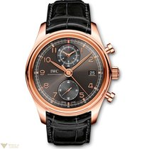 IWC Portuguese Chronograph Classic Red Gold Adroise Dial Men`s...