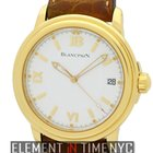 Blancpain Leman  Ultra Slim 18k Yellow Gold 38mm White Dial...