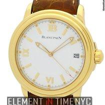 Blancpain Leman  Ultra Slim 18k Yellow Gold 38mm White Dial...