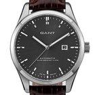 Gant Hancock W10971 Automatik Herren silber grau braun 45 mm...