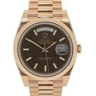 Rolex Day-Date 40 - Pink Rose Gold Chocolate Dial Day Date 40mm