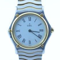 Ebel 1911 Damen Uhr Stahl/750 Gold 28mm Classic Wave Top Zustand