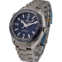 Omega Seamaster Planet Ocean 600M in Steel with Blue Bezel