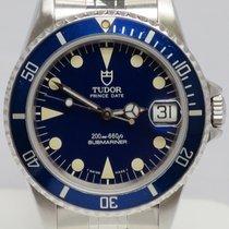 Tudor Submariner 75910 Year: 1997  36mm Case Blue Dial