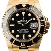 Rolex Submariner 18ct Yellow Gold Black Dial And Bezel 116618LN