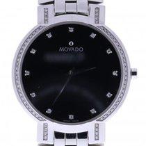 Movado Faceto 84451891s 38 Millimeters Black Dial