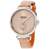 Shinola The Canfield Nude Pink Alligator Leather Strap...
