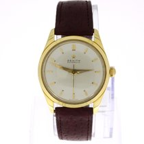 Zenith Automatic Vintage Watch 18K Gold Hammer Automatic
