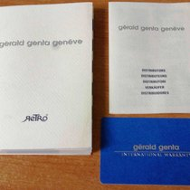 Gérald Genta vintage warranty card and booklet  for retro model
