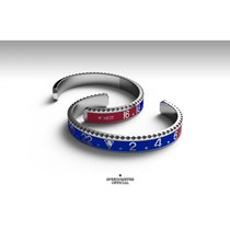 SPEEDOMETER OFFICIAL BRACCIALE GHIERA GMT BLU/ROSSO