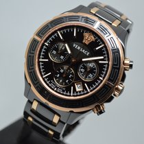 Versace DV One 44mm Automatic Chronograph Rose Gold Ceramic