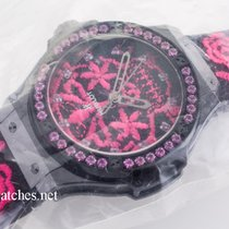 Hublot Big Bang 41mm Broderie Sugar Skull Fluo Hot Pink
