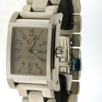 Oris - miles rectangular day/date-585 7525 40 62- wristwatch-