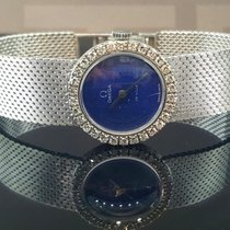 Omega De Ville 18k White Gold Women's Watch 22mm Factory...