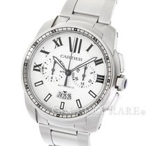Cartier Calibre de Cartier Chronograph White Dial Steel 42MM