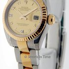 Rolex New Ladies Datejust 179173 D 18k Gold & Steel...